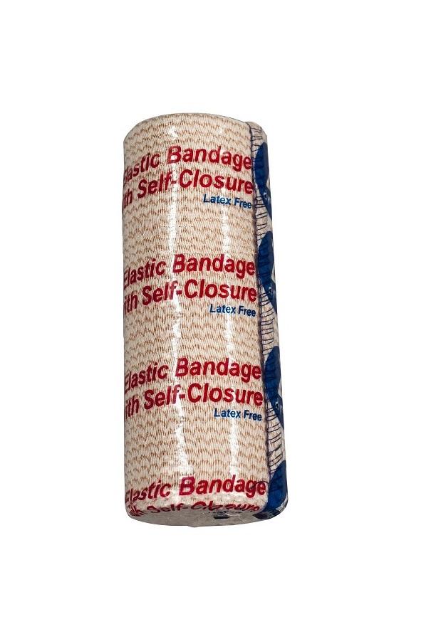 Elastic Bandage with Self Closure 4″ x 5yds Hook & Loop at Both ends