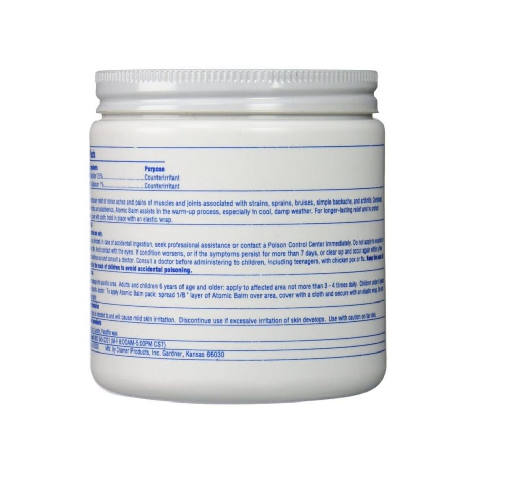 Cramer Atomic Balm Analgesic Pain Ointment 1 lb Jar