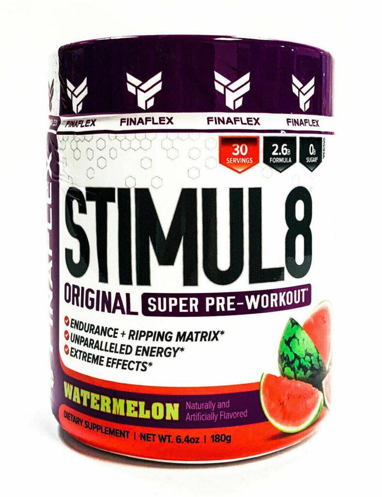 FinaFlex STIMUL8 Pre-Workout ENERGY FOCUS Burn Fat, Build Muscle – 30 Servings